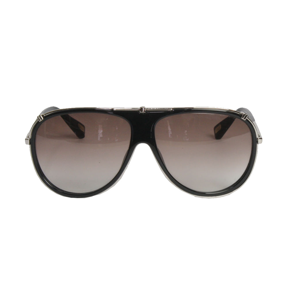 Óculos Marc Jacobs Preto Metal Prata   Brechó de luxo - prettynew 10f7f27830