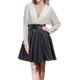 Vestido-Halston-Heritage-Preto-e-Branco