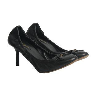 Sapato-de-Salto-Louis-Vuitton-Couro-Preto