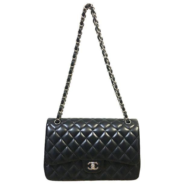 ab3cb7d47566 Bolsa Chanel Double Flap Jumbo lambskin | Brechó de luxo - prettynew