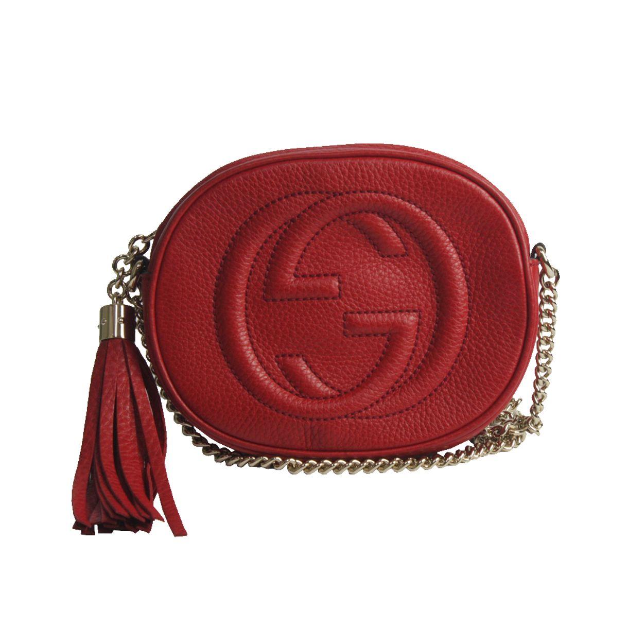 Bolsa-Gucci-Soho-Chain-Crossbody-Vermelha