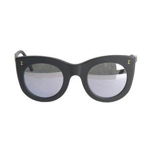 Oculos-Illesteva-Boca-Preto-Fosco-com-Lente-Espelhada