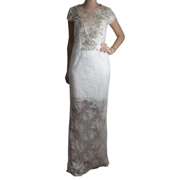 Vestido Patricia Bonaldi De Renda Brechó De Luxo Prettynew