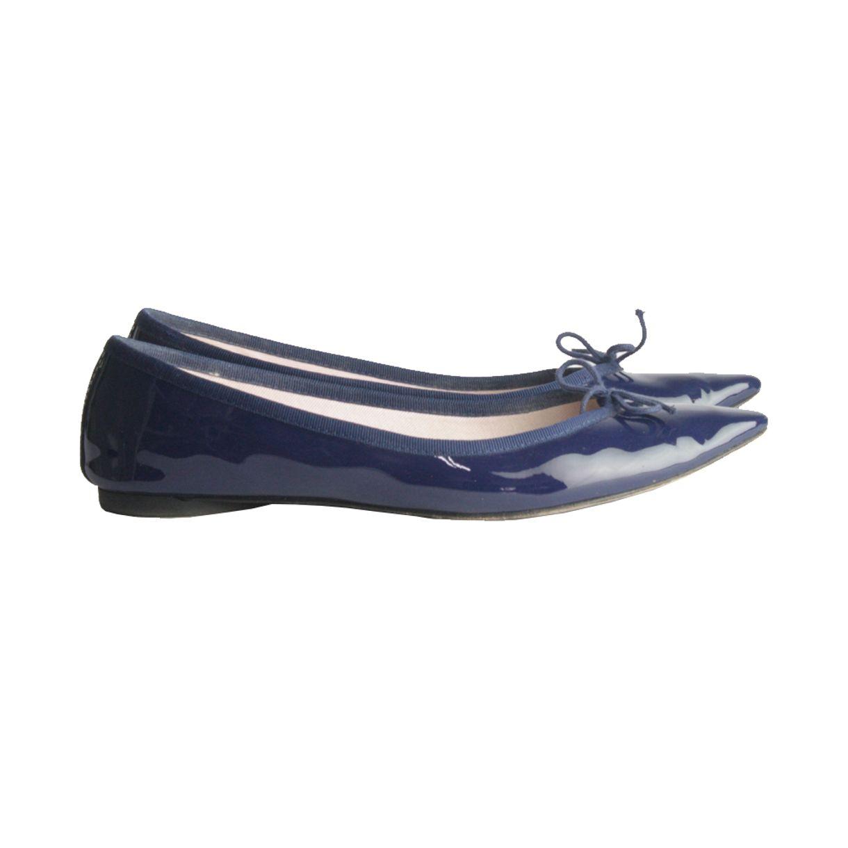 Sapatilha-Repetto-Bico-Fino-Verniz-Azul