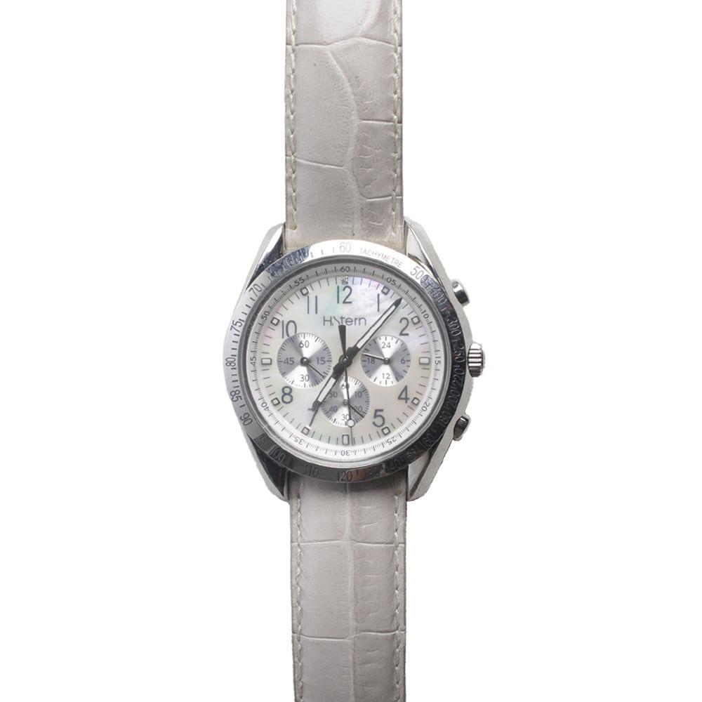 9d0f377e756 Relógio H.Stern Madre Pérola e Couro Branco