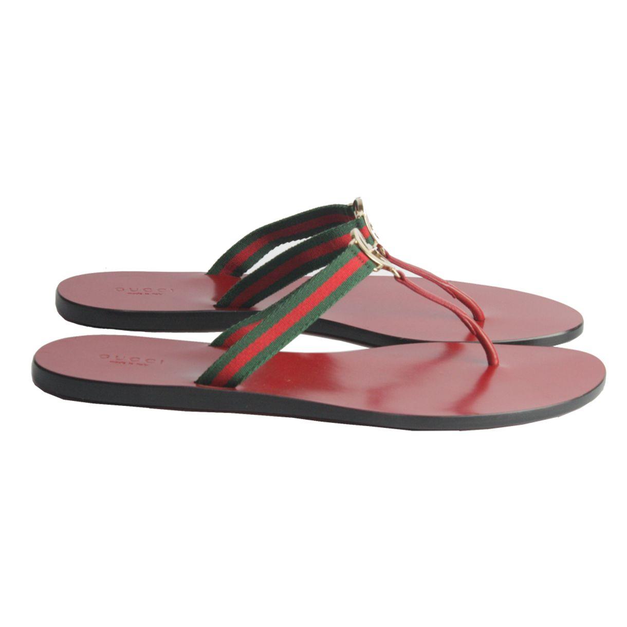 Sandalia-Flat-Gucci-Sola-Vermelha
