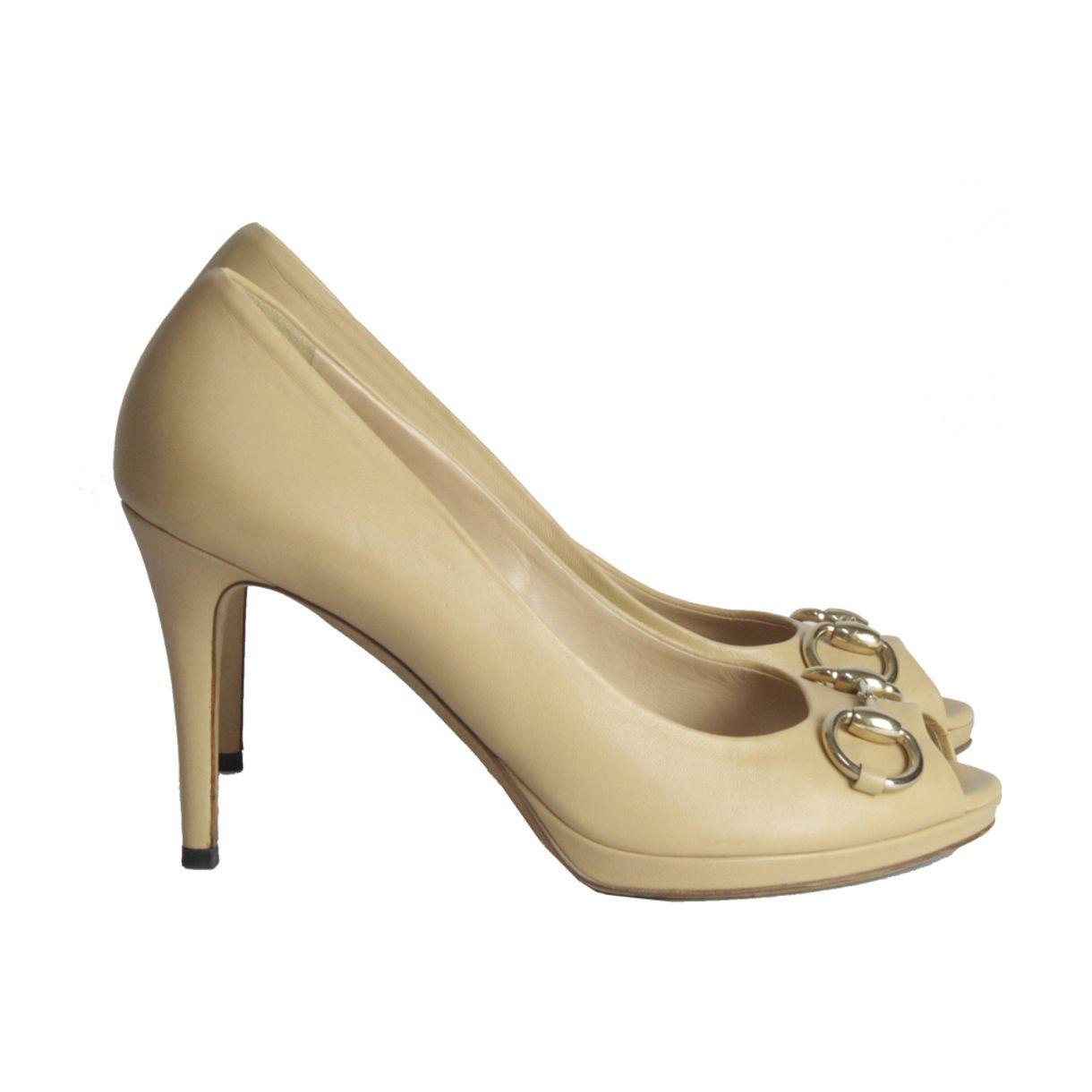 Sapato-de-Salto-Baixo-Gucci-Nude