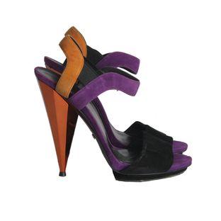 Sandalia-Gucci-Colorida-Salto-Laranja-Metalizado