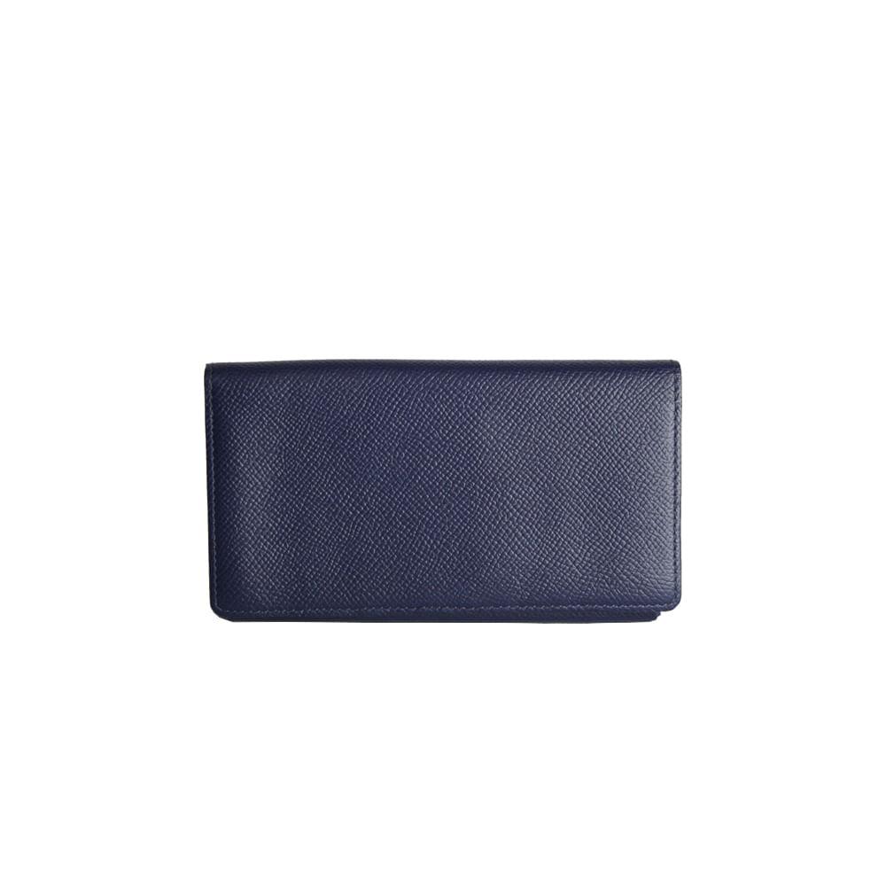 6da69a58401 Carteira Hermes Azul Marinho com  Iphone Case