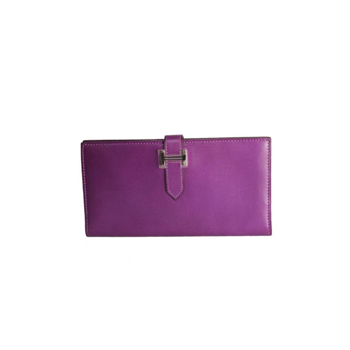 Carteira-Hermes-Bearn-Wallet-Roxa
