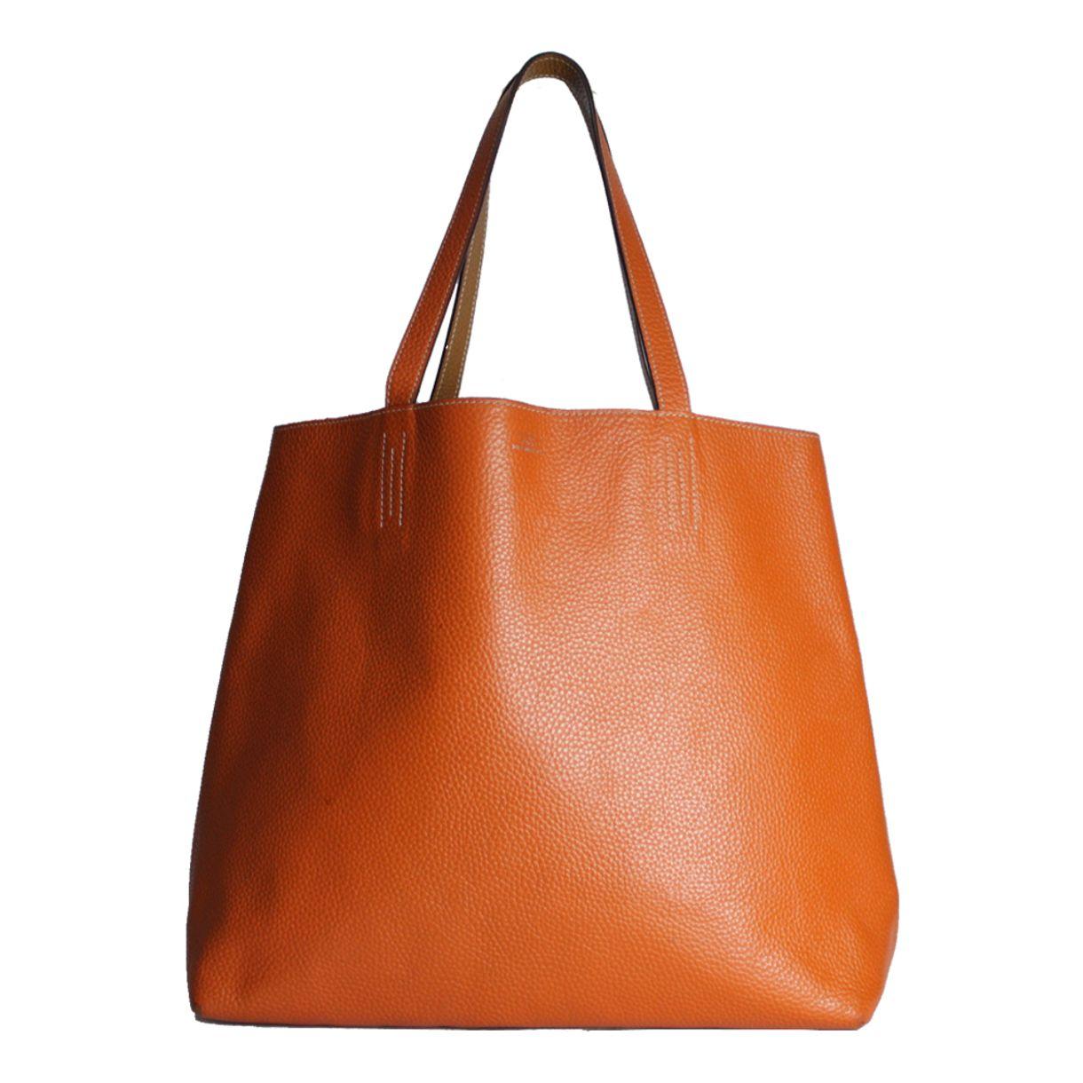Bolsa-Hermes-Reversible-Tote-Caramelo