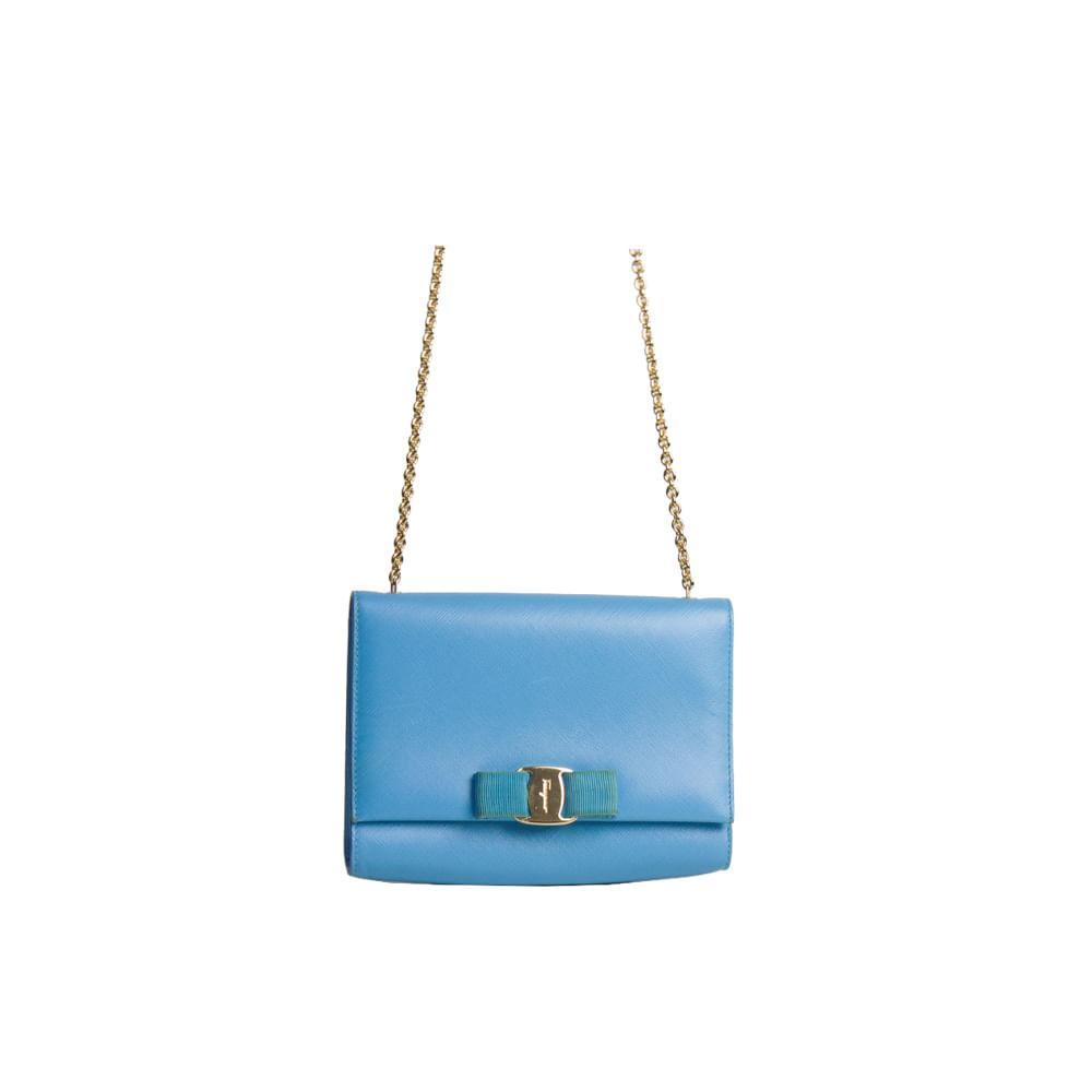 Bolsa Salvatore Ferragamo Ginny Crossbody Bag Turquesa. Previous 9a8418b2c1