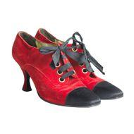 Bota-Chanel-Veludo-Preto-e-Vermelho