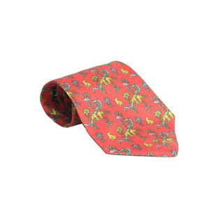 Gravata-Salvatore-Ferragamo-Cheetah-Vermelha