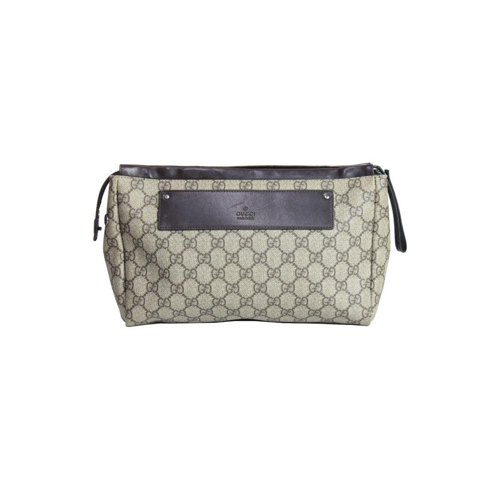 096cc3c05 Necessaire Gucci Canvas | Brechó de luxo | Pretty New - prettynew