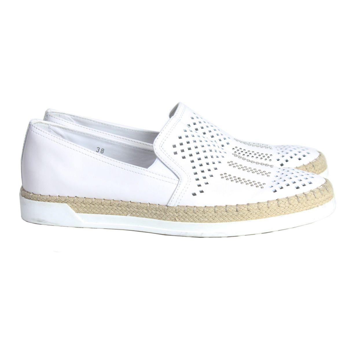 slipper-tods-couro-branco