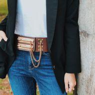 Cinto-Chanel-Vintage-Couro-Liso-Duplo-Marrom