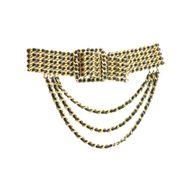 60276-Cinto-Chanel-Vintage-Maxi-Dourado-com-Couro-Lambskin-Preto