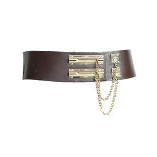 60279Cinto-Chanel-Vintage-Couro-Liso-Duplo-Marrom