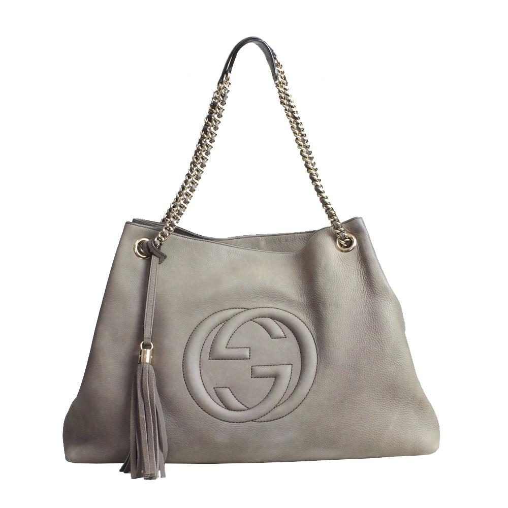 Bolsa Gucci Soho   Brechó de luxo - prettynew 0be7273753