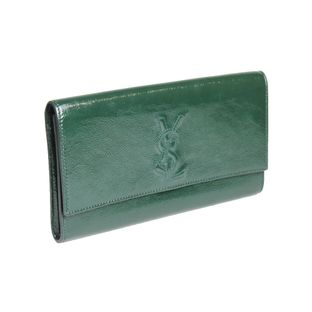 Clutch-Saint-Laurent-Verniz-Verde-Musgo