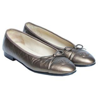 Sapatilha-Chanel-Classica-Bronze