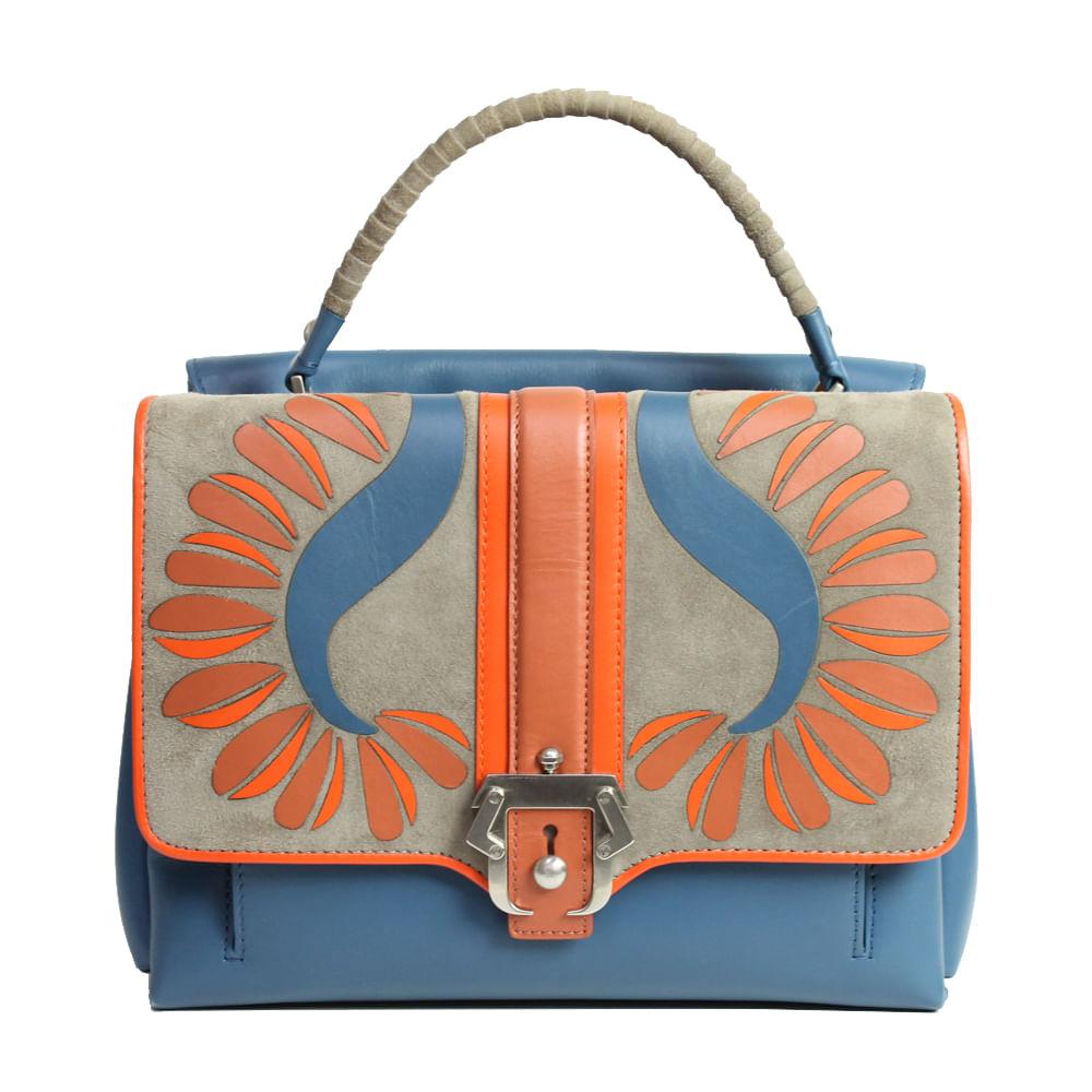 f551c36b2f778 Bolsa Paula Cademartori Medium Faye Azul   Brechó de luxo - prettynew