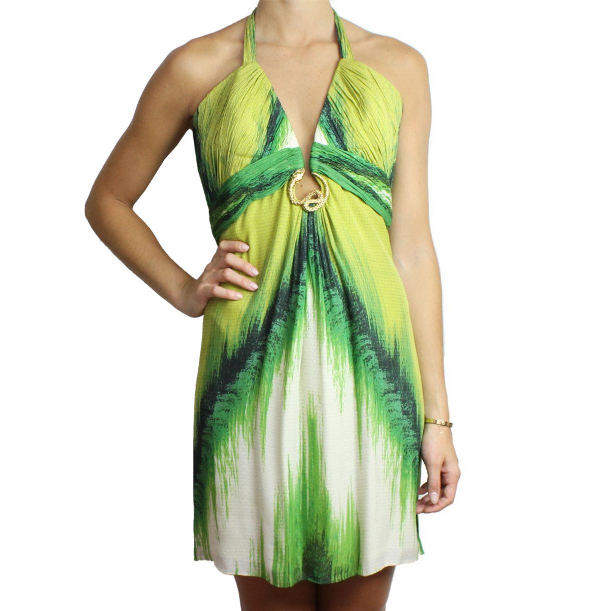 Vestido-Roberto-Cavalli-Seda-Verde