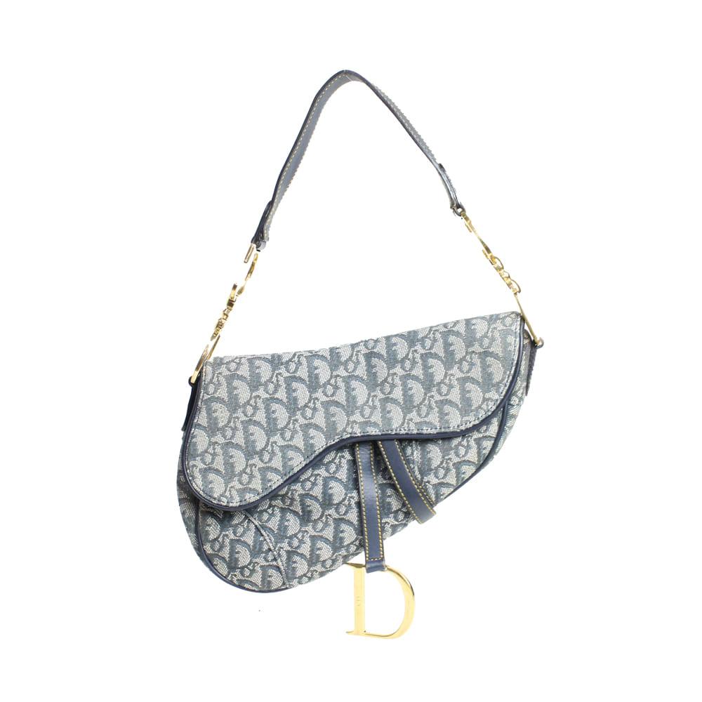 4dc4024b0 Bolsa Dior Saddle Diorissima Denim | Brechó de luxo - prettynew