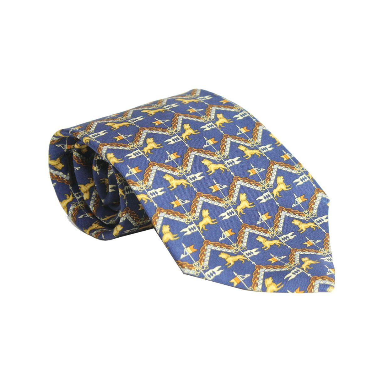 gravata-salvatore-ferragamo-leao-azul-royal