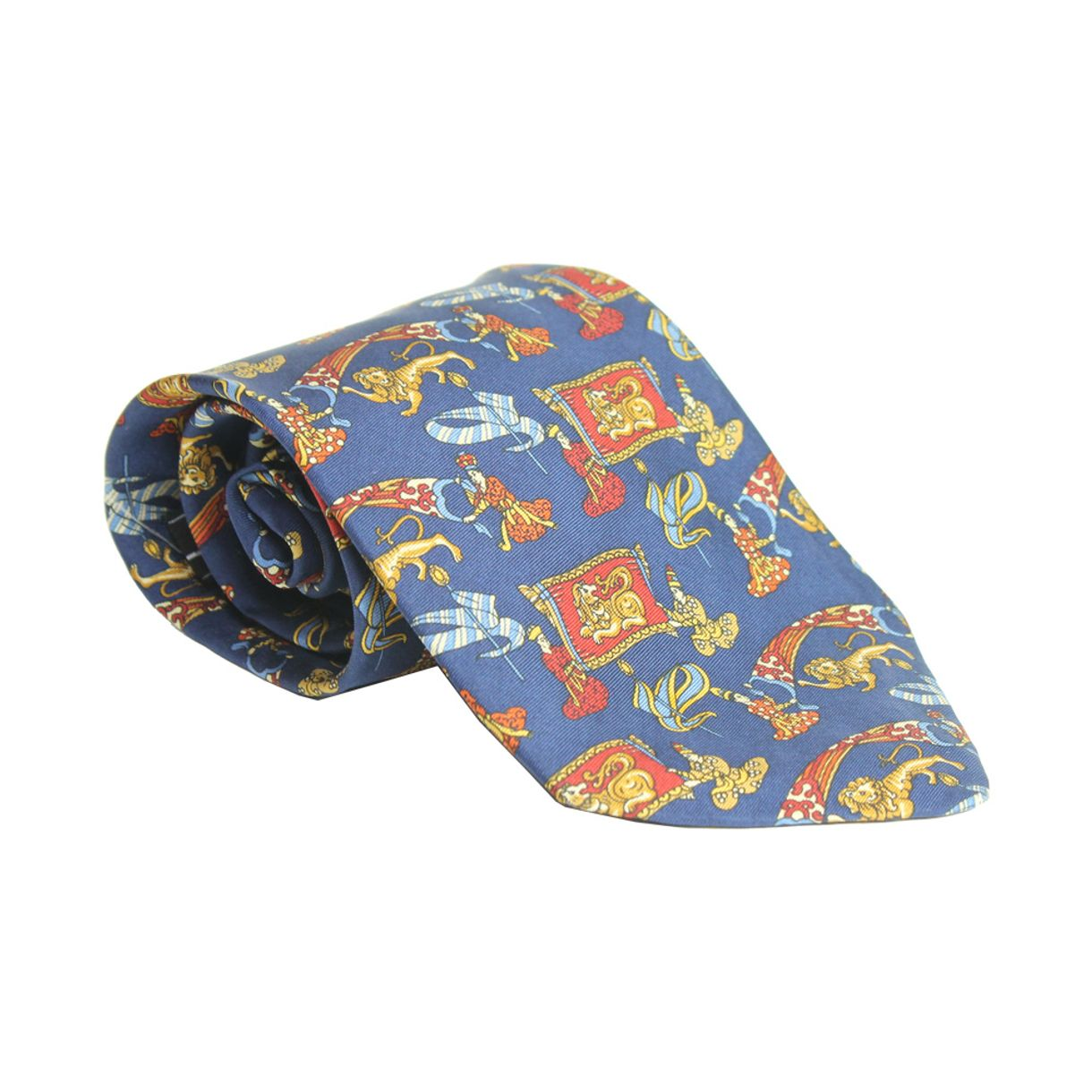 gravata-salvatore-ferragamo-leoes-azul-marinho