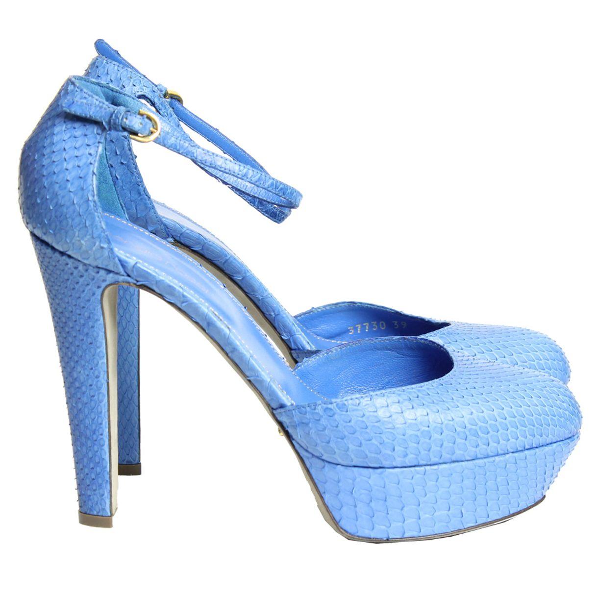 Pump-Sergio-Rossi-Python-Azul