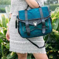 Bolsa-Proenza-Schouler-Tecido-Azul-e-Verde