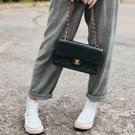 Bolsa-Chanel-Vintage-Classic-Flap-Lambskin-Preta