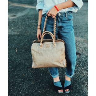 Bolsa-Chanel-Dourada