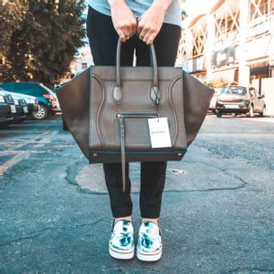 Bolsa-Celine-Phantom-Medium-Marrom