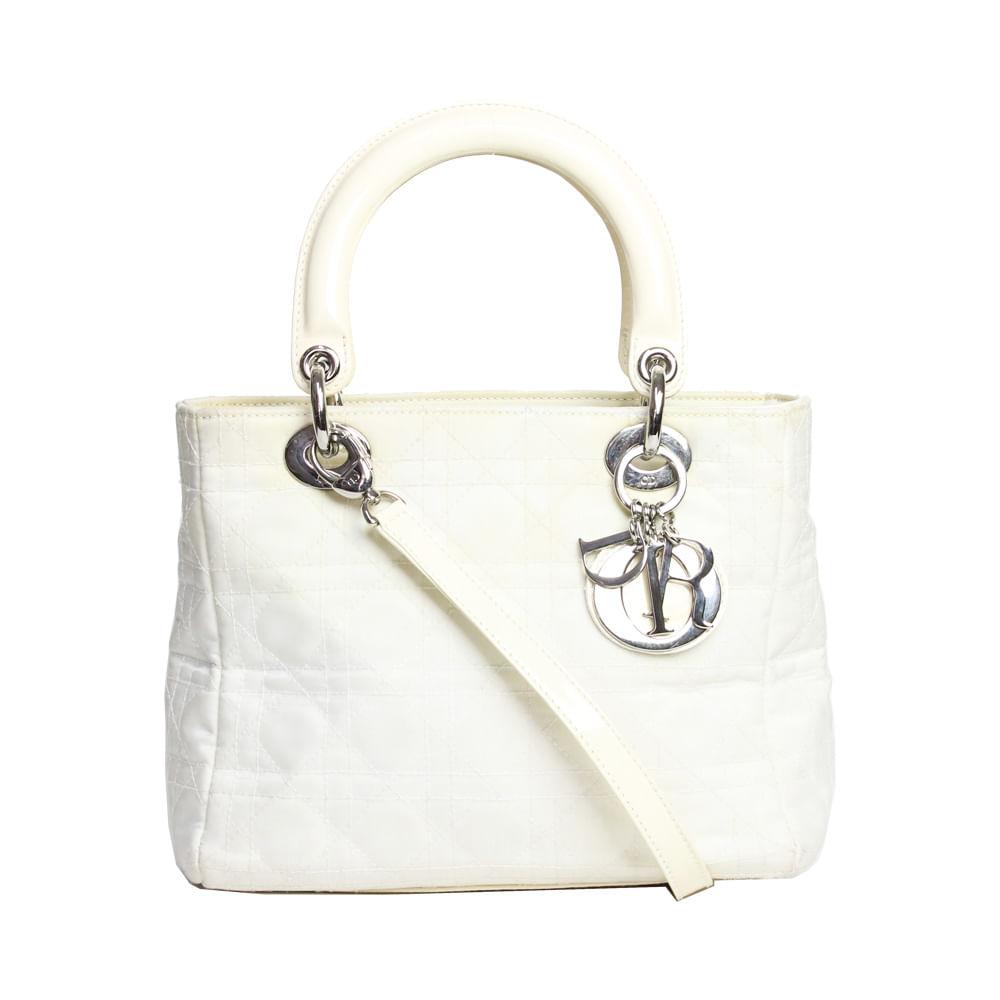 07ce76e6543 Bolsa Lady Dior Off White Tecido. Previous