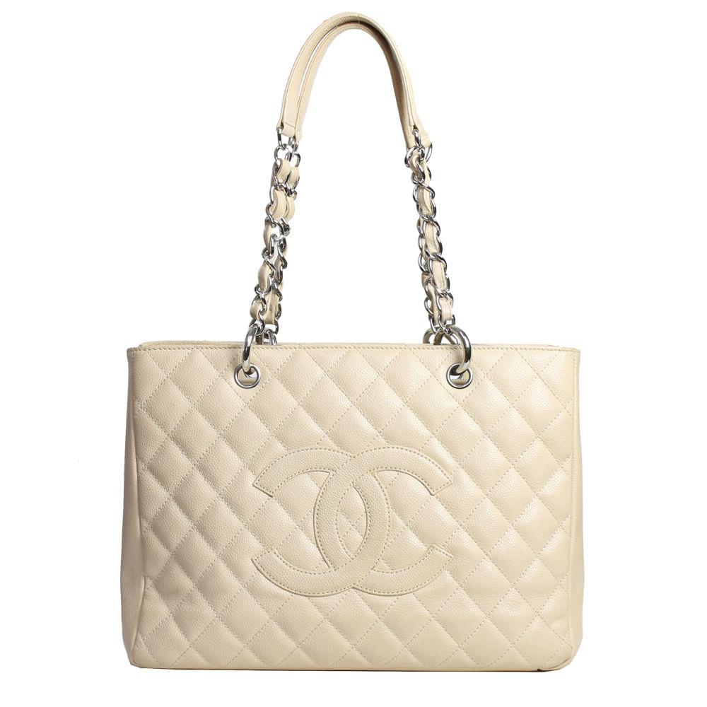e200eab87 Bolsa Chanel Shopper em Couro Caviar Nude | Brechó de luxo - prettynew