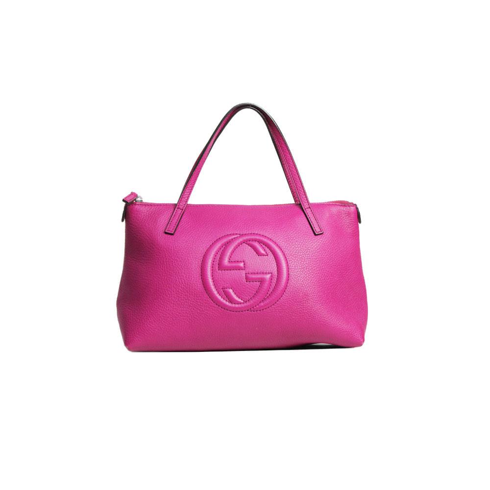 Bolsa Gucci Pequena Inspired : Bolsa gucci soho pequena magenta brech? de luxo prettynew