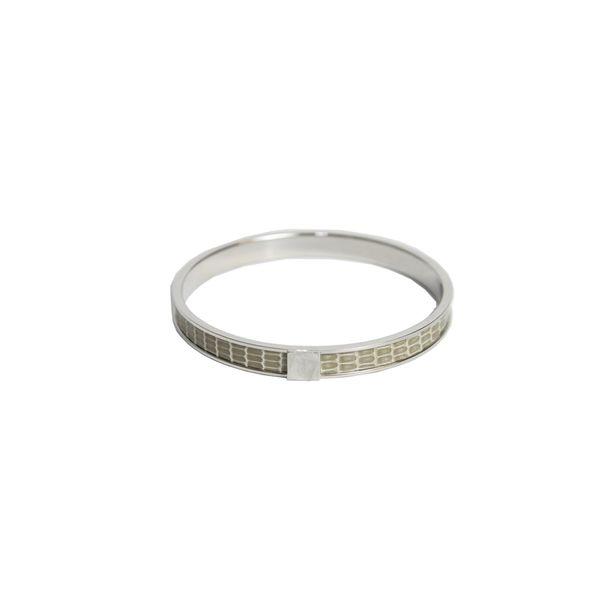 bracelete-hermes-prata-com-couro-kawaii-cinza-verde