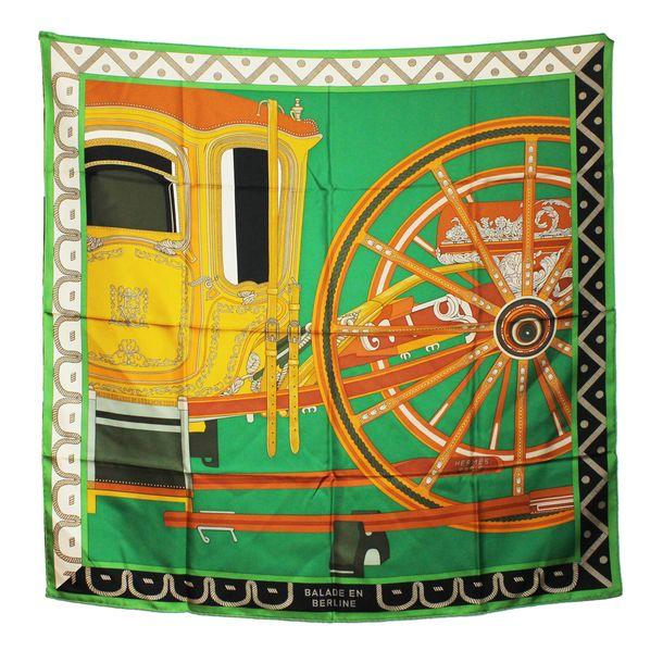 lenco-hermes-carre-twill-de-seda-90-verde-e-laranja