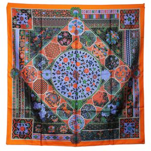lenco-hermes-carre-twill-de-seda-90-laranja-e-roxo