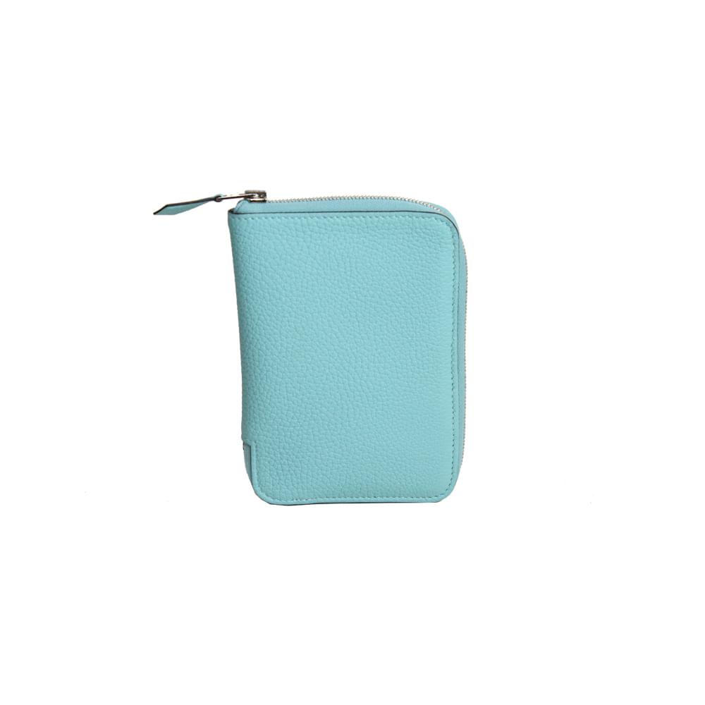 b99082ea526 Carteira Hermes Couro Azul Tiffany