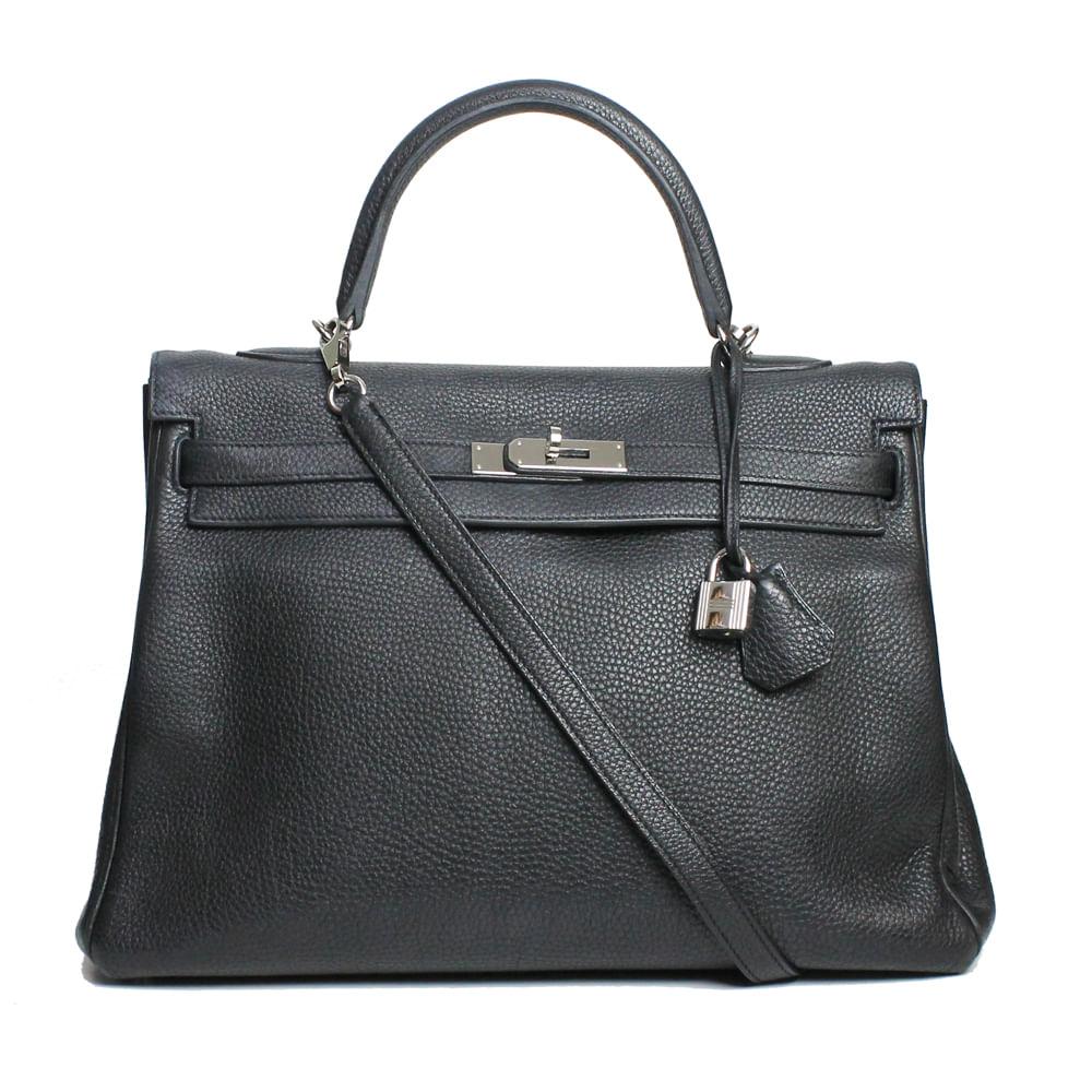 Bolsa Hermes Kelly 32 Couro Clemence   Brechó de luxo - prettynew c62e3fa261