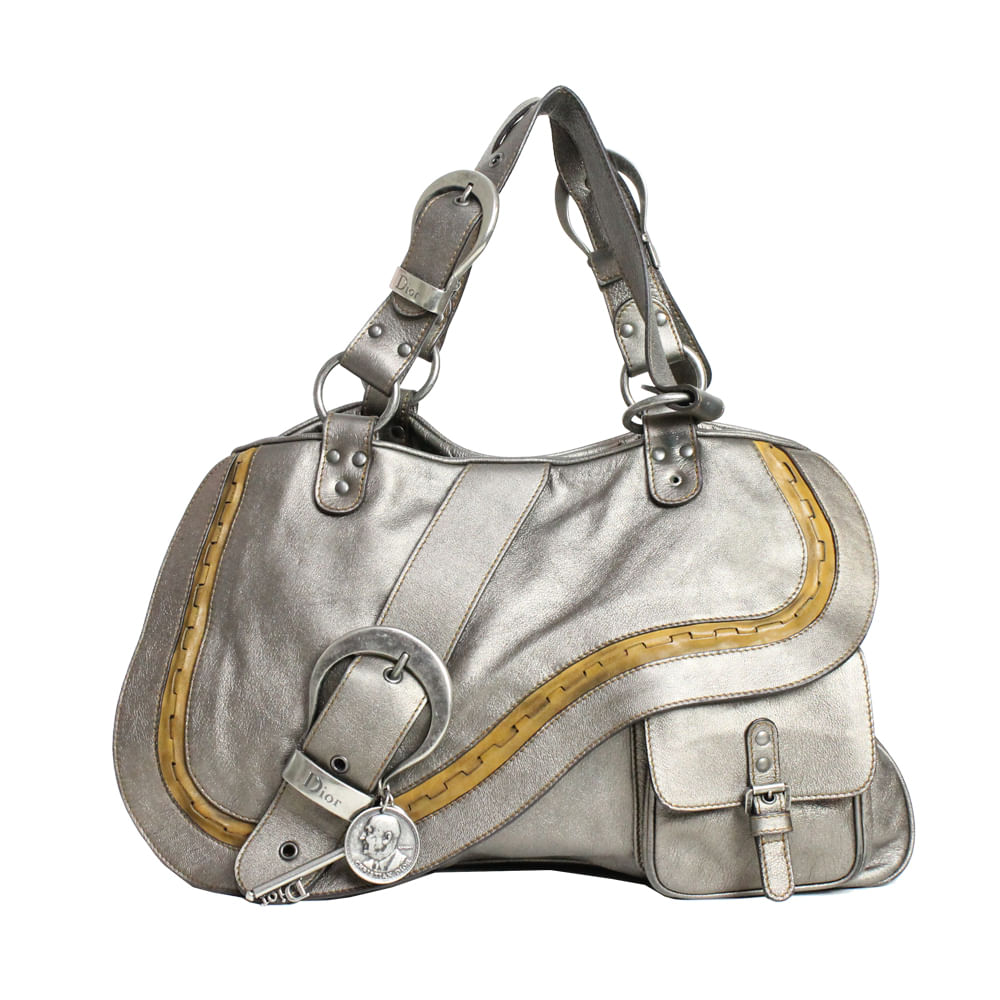 856eff9a96b Bolsa Christian Dior Saddle Chumbo. Previous