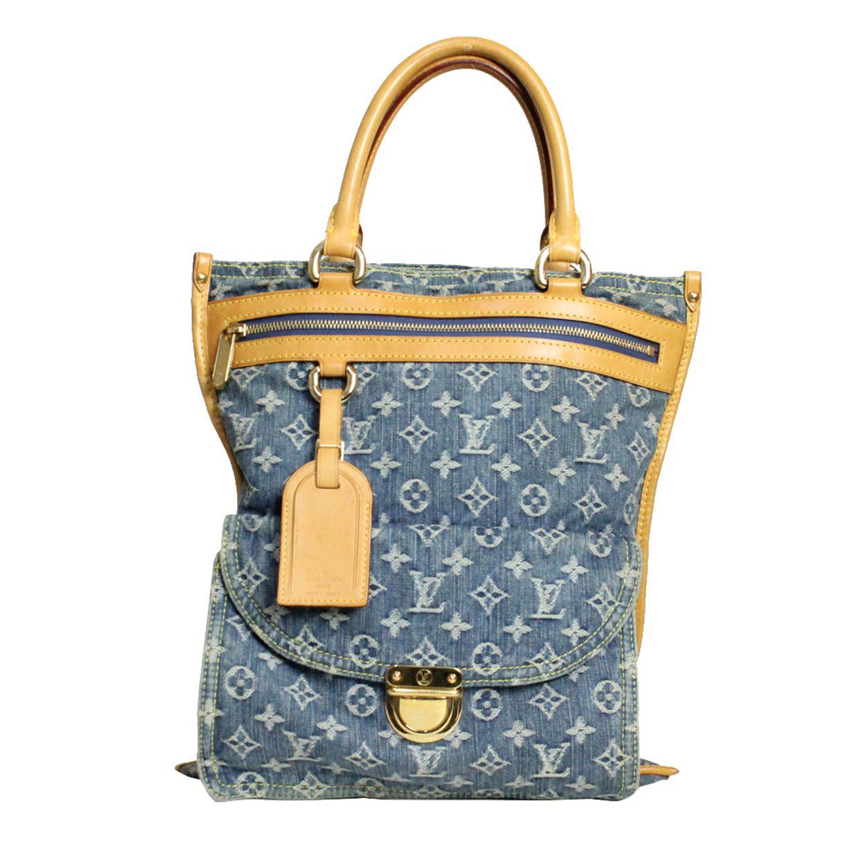 Bolsa-Louis-Vuitton-Denim-Sac-Plat