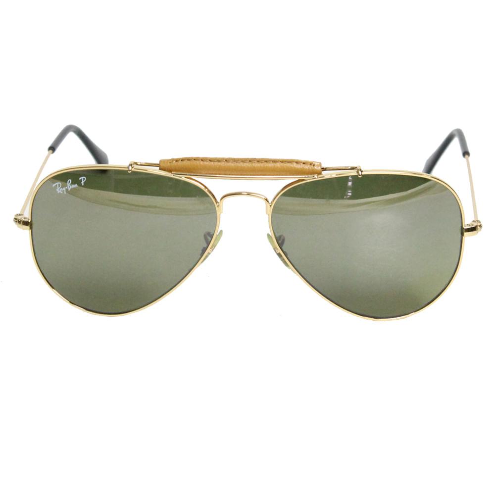 Óculos Ray Ban Aviator Leather   Brechó de luxo - prettynew 67699daf68