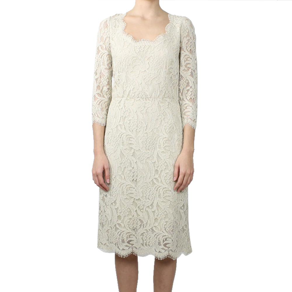 72afc67228110 Vestido Dolce   Gabbana Renda Bege   Brechó de luxo   Prettynew ...