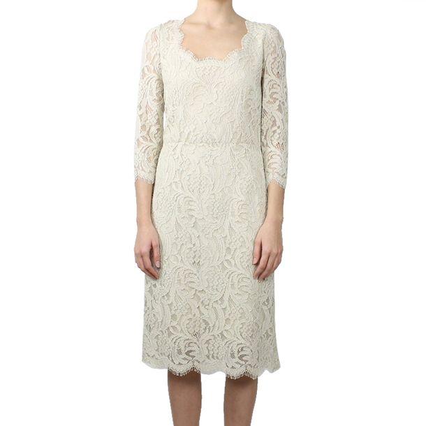 Vestido-Dolce-and-Gabbana-Renda-Bege