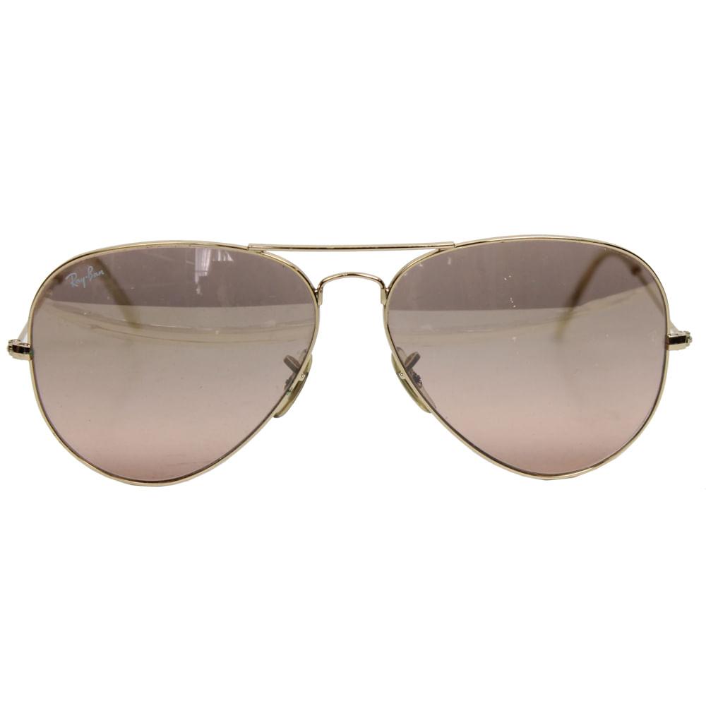 Óculos Ray Ban Aviador Rose   Brechó de luxo - prettynew 56a18e87e5